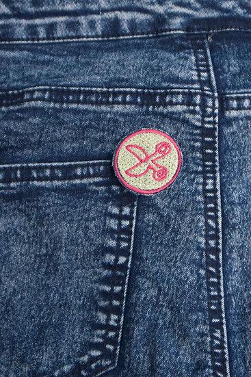 scissors iron-on patch