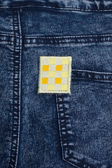 squares iron-on patch