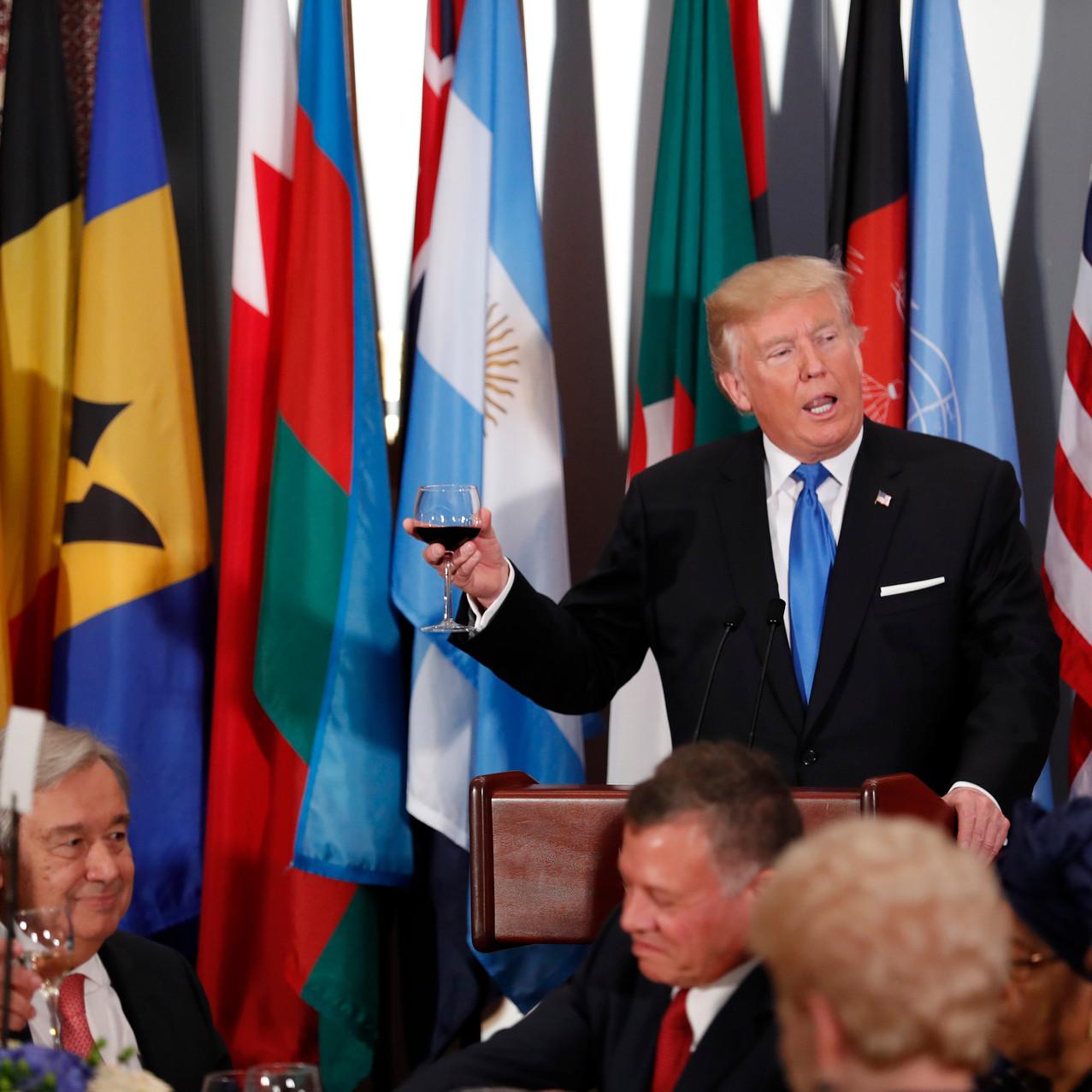 President Trump Toasts World Leaders