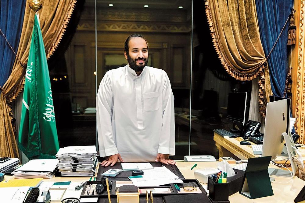 Prince Mohammed PHOTOGRAPHER: LUCA LOCATELLI FOR BLOOMBERG BUSINESSWEEK