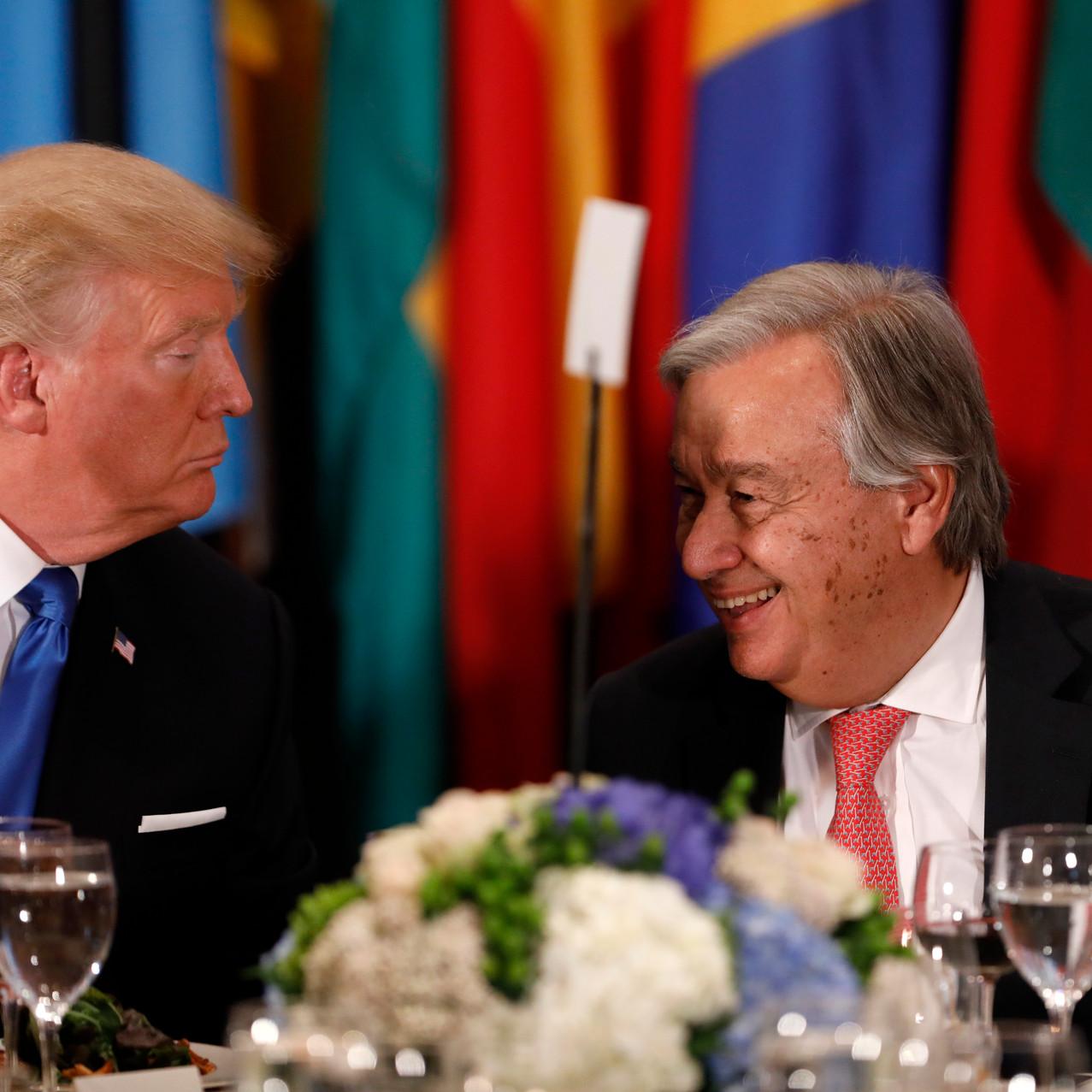 Pres Trump & UN Sec General