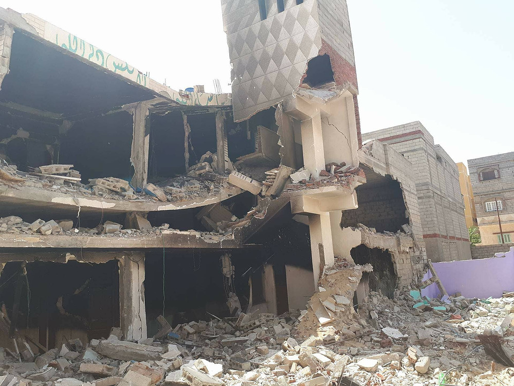 """A house that the Egyptian army demolished in March 2018 in al-Arish as """"retaliation"""" against suspects.  © 2018 Private"""