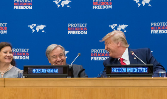 Trump, Others Speak at U.N. Religious Freedom Session