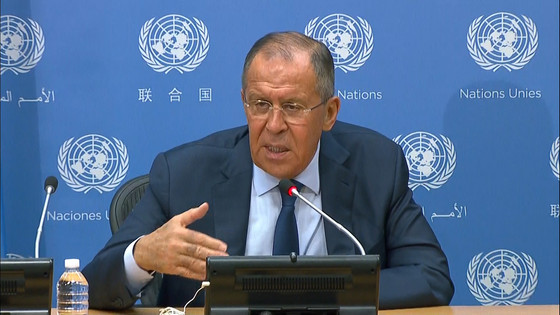 For Russia's Lavrov, Old Wounds Resurface at UN Press Conference