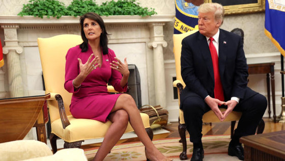 Nikki Haley Resigned as U.S. Ambassador to the U.N. by End of Year