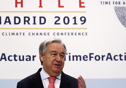 """U.N. Climate Change Holds """"COP25"""" in Madrid"""
