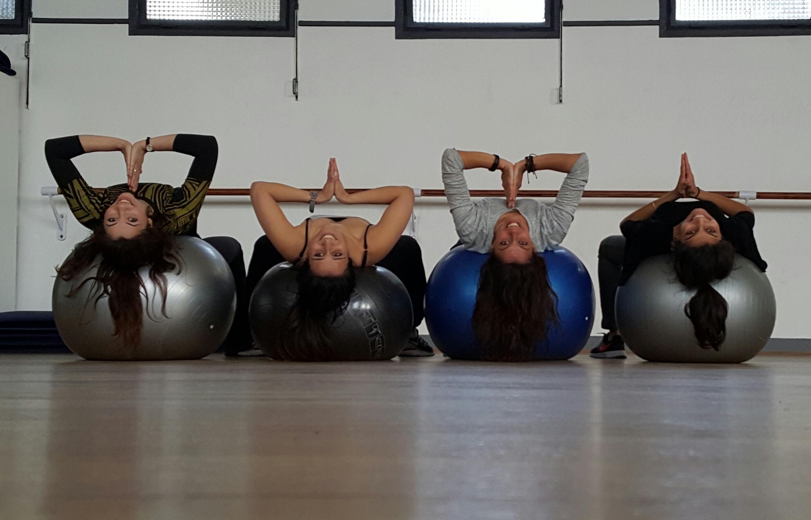 Yoga sur ballon