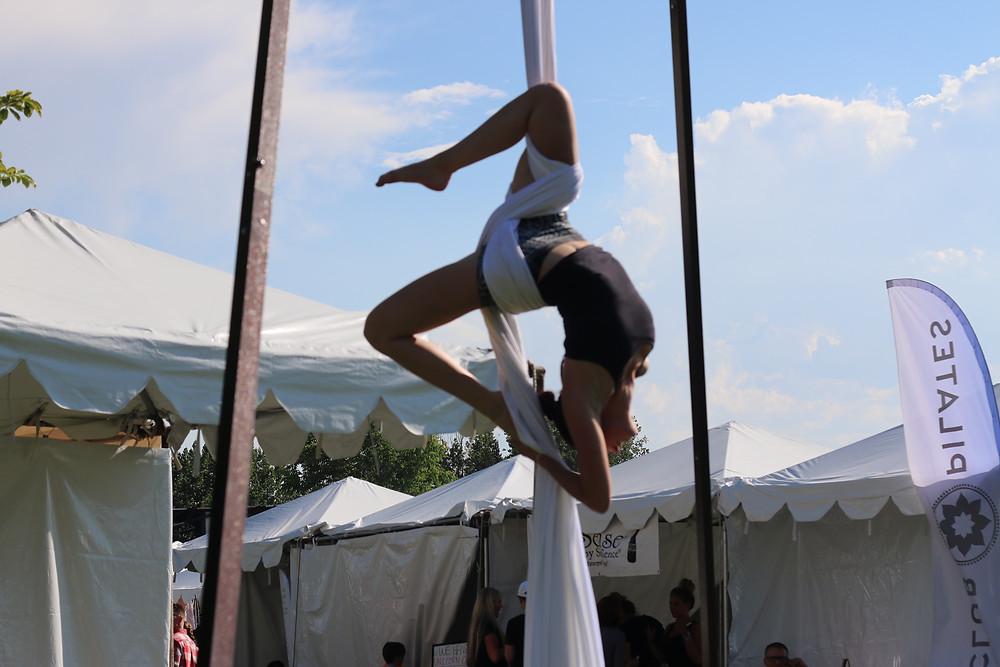 Aerial Silks at Draper Days Draper Park