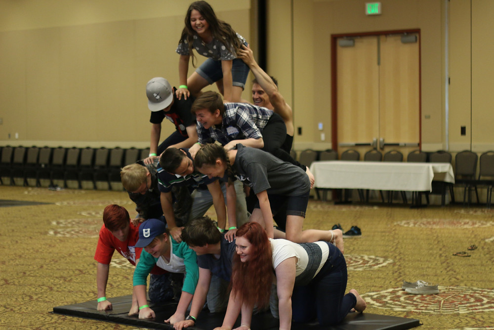 Students at the 2017 UHEA Convention shared many laughs as they worked together as a team.