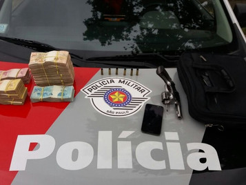Homem é preso após roubar R$ 64 mil em 'saidinha de banco' em São José dos Campos