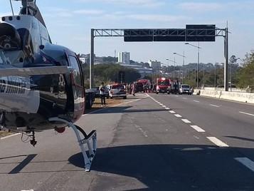 Acidente no anel viário deixa uma vítima gravemente ferida em São José dos Campos