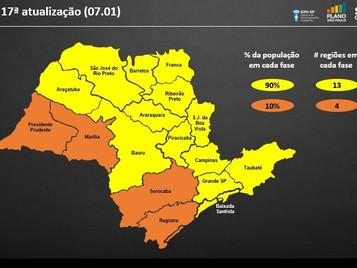 Estado mantém Vale do Paraíba e região bragantina na fase amarela do Plano São Paulo