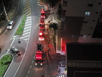 Apartamento pega fogo na Vila Ema em São José dos Campos