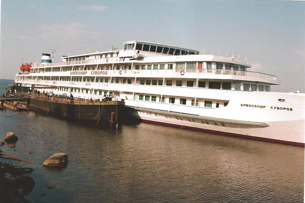 Russian Cruise Ship on the Volga River