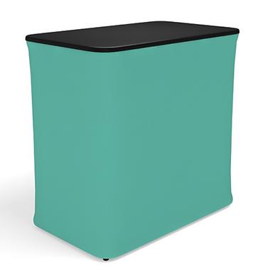 Inflatable rectangular display counter
