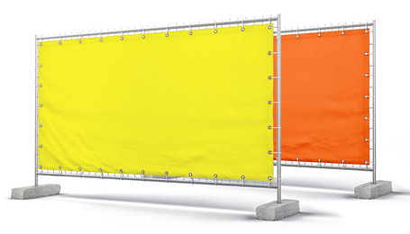 Fluorescent safety fence wrap