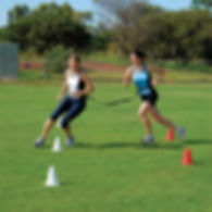 2 Ladies training for sports activity