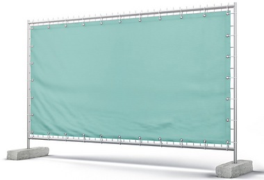 Promotional event fence wrap