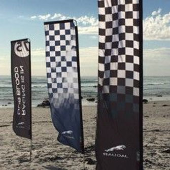 Swing arm flags