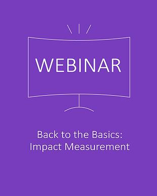 Back to the Basics Impact Measurement We