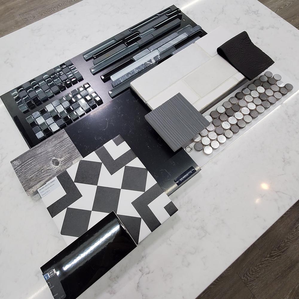 Sleek monochrome Material board