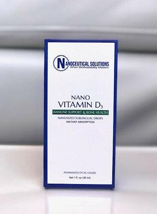 Nanoceutical Solutions Nano Vitamin D3 Sublingual Drops 1 FL. OZ 30 ML