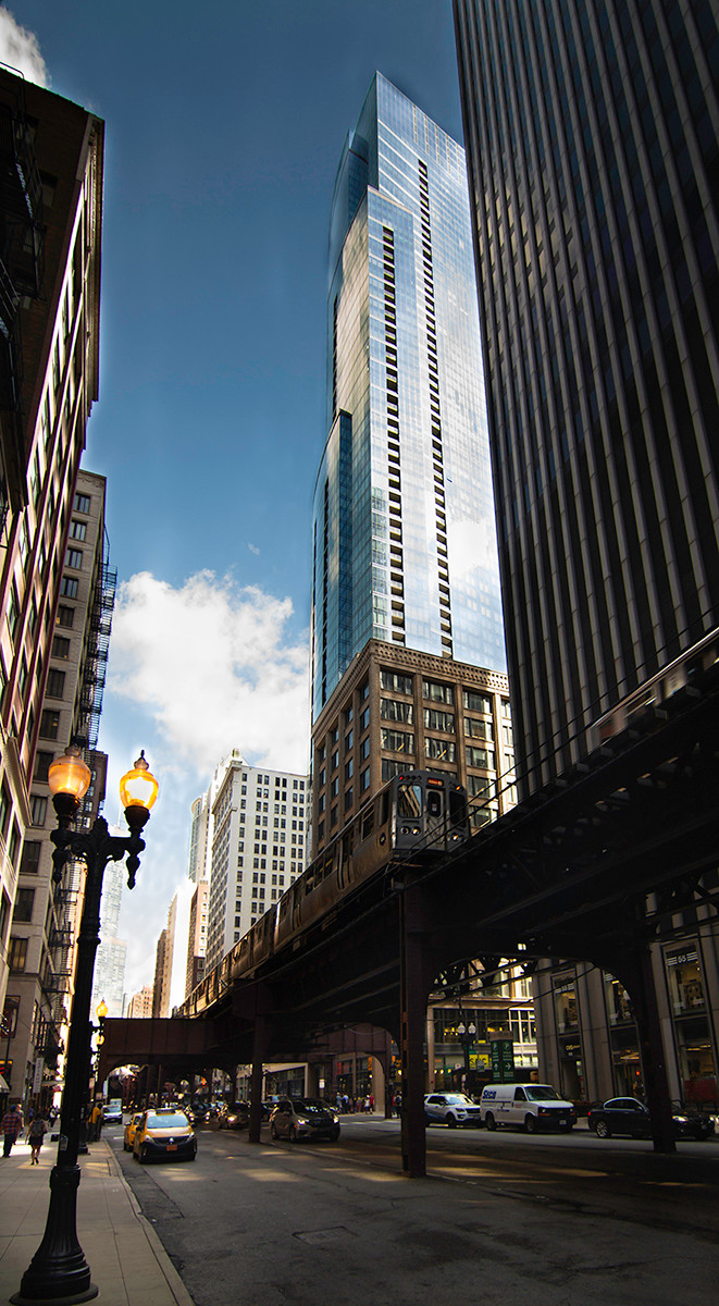 COLOUR - Chicago Street by Jennifer James ( 6 marks)