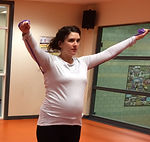 pregnant | woman | exercising