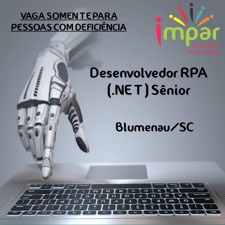 Desenvolvedor RPA (.NET) Sênior