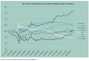US Factor Performance over Pandemic Char