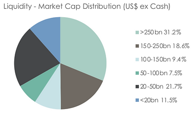 Liquidity-Market Cap Distribution Chart