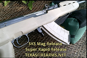SKS Mag Release AK Style Super Rapid Release by TexasFirearms.net