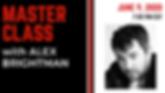 Master Class - Alex Brightman (Facebook