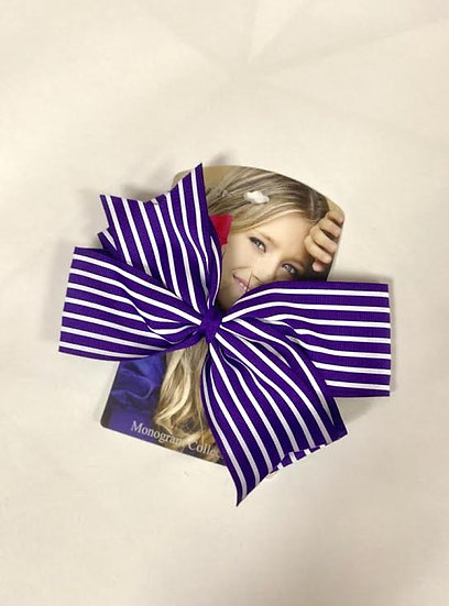 Riviera Monogram Collection Large Striped Bow