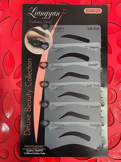 Liangyan Deluxe Beauty Collection Eyebrow Stencils