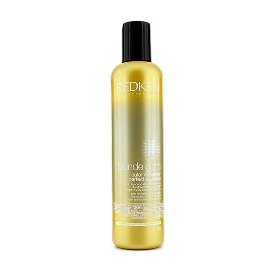 Redken Blonde Glam Color Enhancer Perfect Platinum Color-Depositing Conditioner