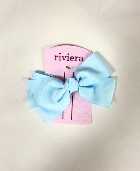 Riviera Large Blue Bow