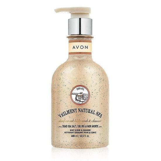 Avon Veilment Natural Spa Dead Sea Salt Body Scrub