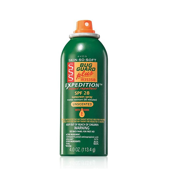 Avon Skin So Soft Bug Guard Plus IR3535® Expedition™ Aerosol Spray SPF 28