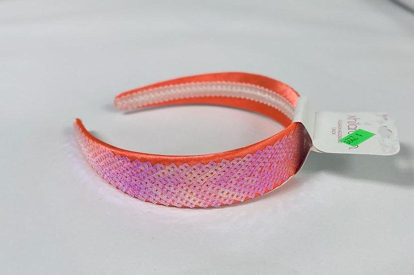 Xhilaration Coral Sequins Fashion Headband