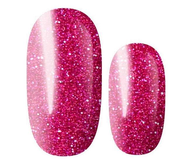 Lily and Fox Lipstick Pink Glitter Nail Wraps