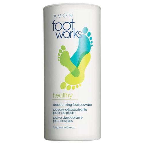 Avon Foot Works Healthy Deodorizing Foot Powder
