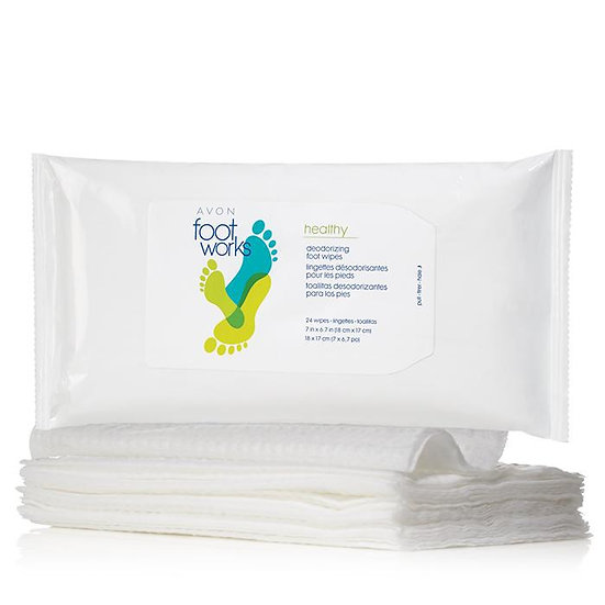 Avon Foot Works Healthy Deodorizing Foot Wipes