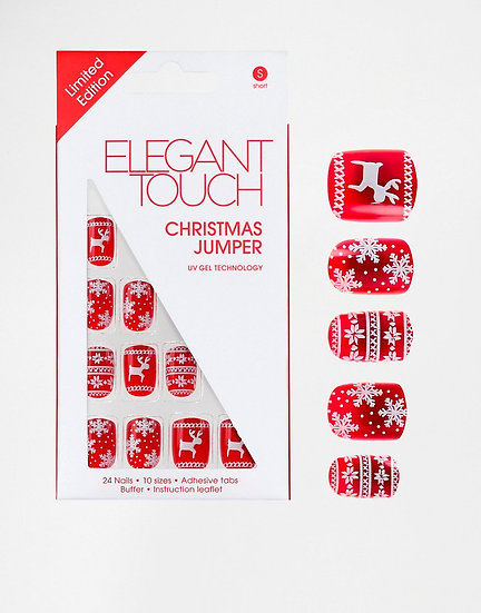 Elegant Touch Christmas Jumper Limited Edition Nails