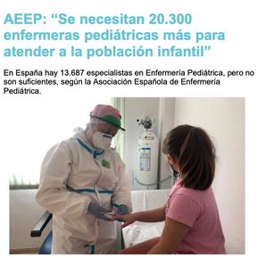 """""""Se necesitarían 20.300 enfermeras pediátricas más de las que hay en la actualidad"""""""