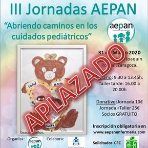 APLAZAMIENTO III JORNADAS AEPAN