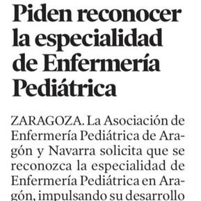 AEPAN reivindica el desarrollo de la enfermería pediátrica en Aragón
