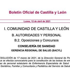 Castilla y León convoca la bolsa de empleo de Enfermería Pediátrica