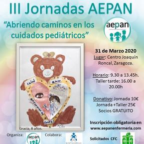 III Jornadas AEPAN: Abriendo caminos en los cuidados pediátricos