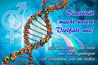 Diversität macht unsere Vielfalt aus!  wir Lebewesen sind bunt wie der Regenbogen im Innersten, wie im Außen